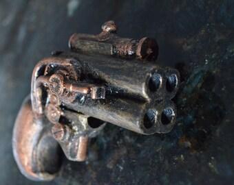 Steampunk Pepperbox gun pistol blaster hand made and painted