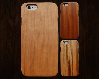 Wood iPhone 6 case. Works with 6/6S/6Plus/6SPlus. Single-piece body.