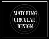 Matching circular watermark - logo design (.jpg &.png  format)  - ADD-ON