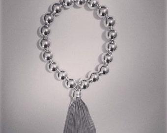 Sterling Silver Tassel Bracelet