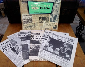Past Times News Papers From The 1950s