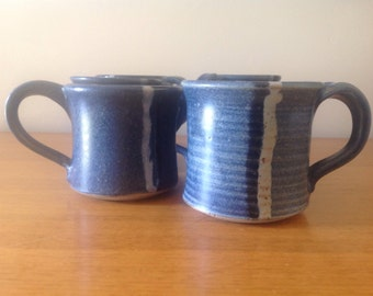 Vintage Handmade Pottery Mugs - Set of 6