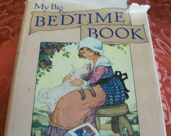 My Big Bedtime Book Children's Nursery Rhymes Stories Picture Book Illustrated by H G C Marsh Lambert 1988 Derrydale Vintage Hardback