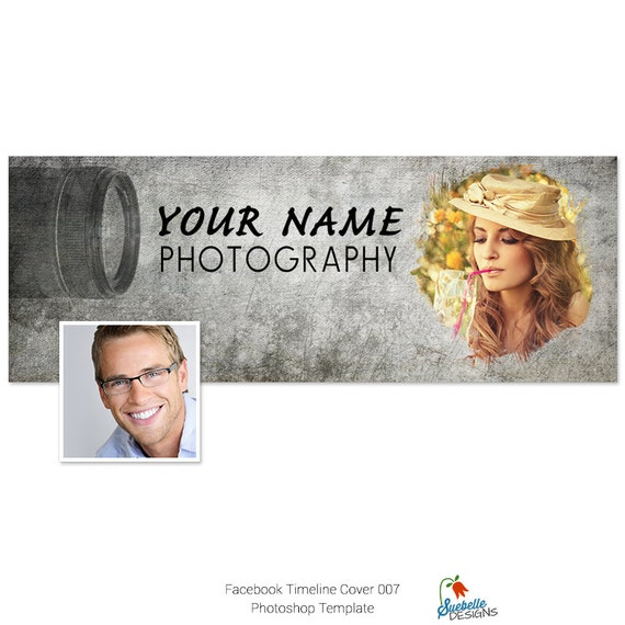 Facebook Timeline Cover Photoshop Template 007