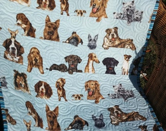 Pet blanket, pet quilt, pet bed, 100% cotton, custom quilted
