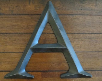 Letter A / Pick Your Own Letter/ Wall Letter/ Oil Rubbed Bronze or Pick Color / Wall or Mantle Decor / Initials / Nusery Office Wall Letters