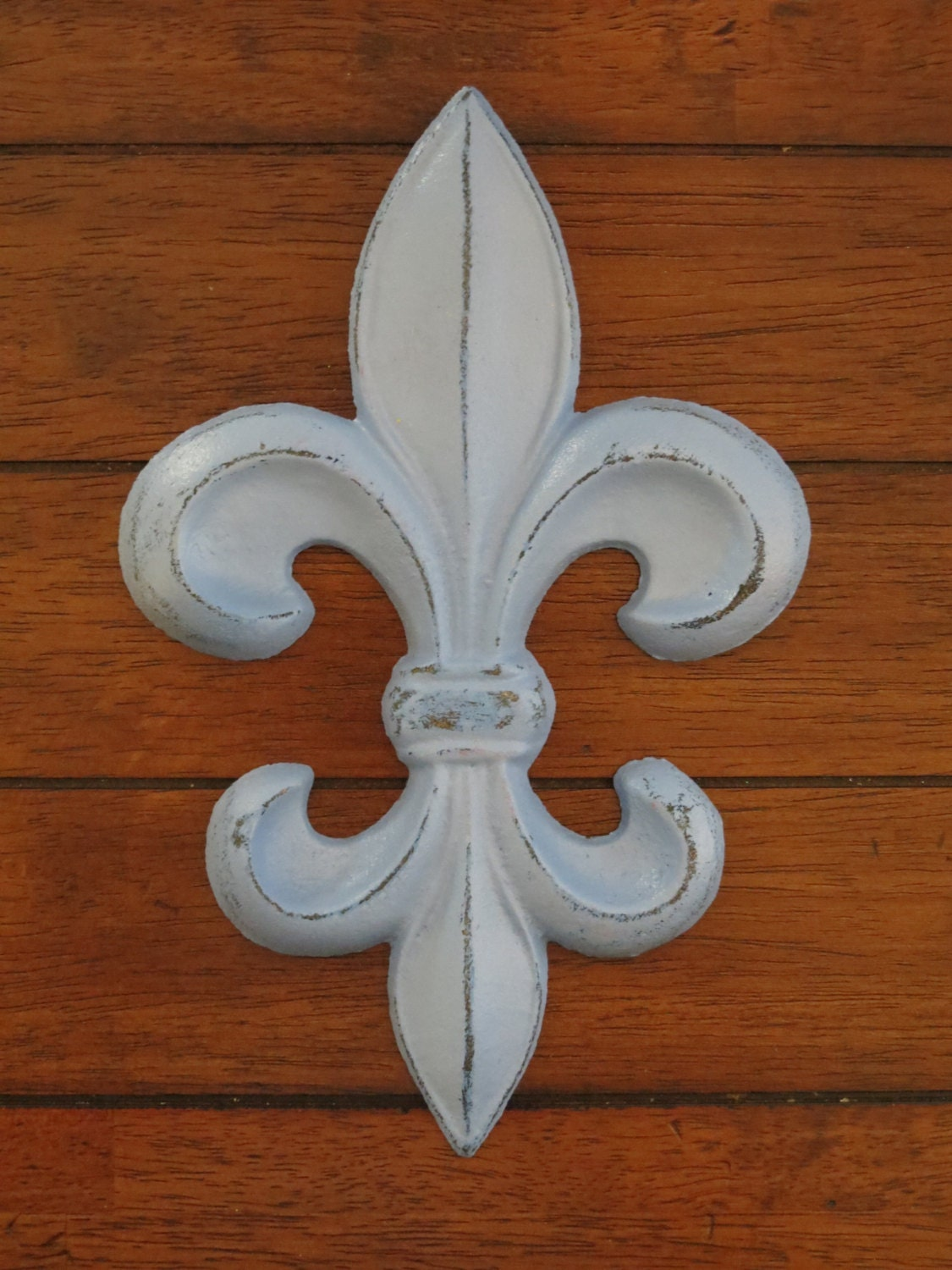 Fleur De Lis Wall Decor Spa Blue Or Pick Your Color Cast Iron