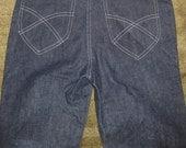 Vintage 1950's-60's Classic Rockabilly Deadstock Denim Jeans - NOS New Old Stock Denim - Unworn.  SM/XS
