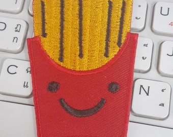 French Fries Iron on Patch - French Fries Applique Embroidered Iron on Patch