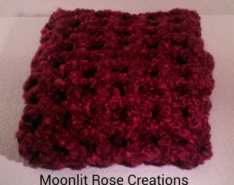 Photo Prop Blanket-(open squares, claret)