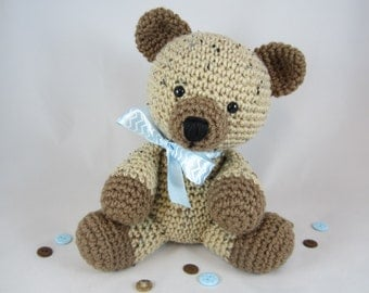Crochet Stuffed Teddy Bear, Crochet Teddy Bear, Stuffed Animal Bear, Amigurumi Bear by CROriginals