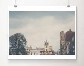 Cambridge photograph architecture photography Senate House photograph Kings Parade photograph winter photograph Cambridge print