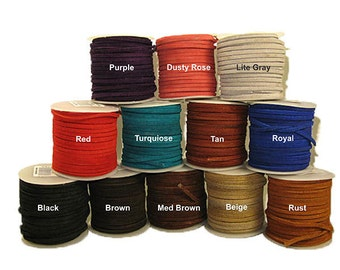 3mm Economy Suede Lace - 25 Yard Spool