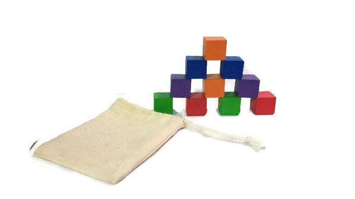 Wooden handmade blocks kids toys colored block by ntoys