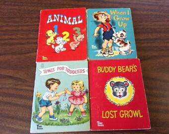 SALE...Set of 4 TINY TALES books circa 1950s