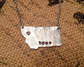 Montana state necklace