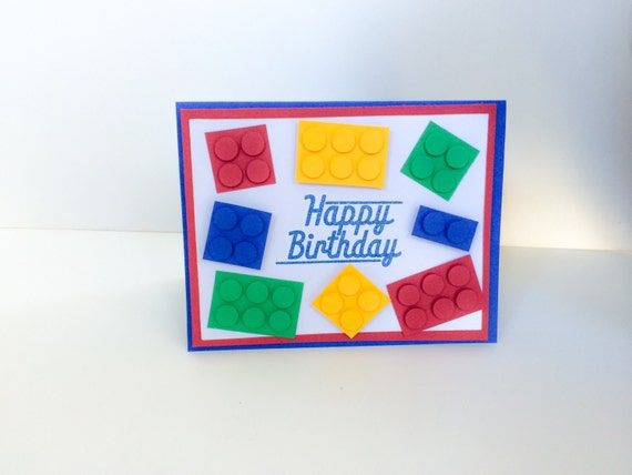Lego Birthday Card Custom Lego Cards for Birthdays Lego – Lego Birthday Card