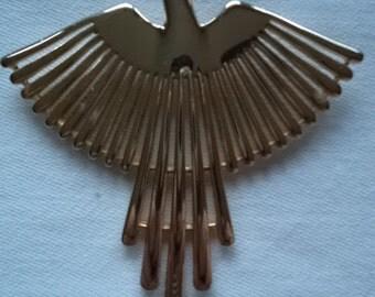 Vintage Signed JJ  Goldtone Phoenix Brooch/Pin