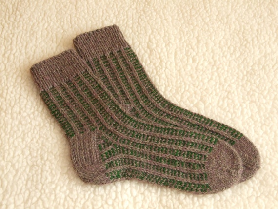 Knitting Pattern For Ski Socks : Hand Knitted socks socks for Men ski socks wool men socks