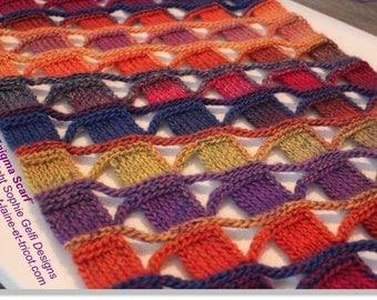 Crochet scarf pattern - Enigma Scarf