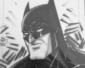 BATMAN the DARK KNIGHT - by comic book artist Blair Shedd