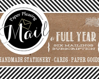 PaperPleasing Mail Subscription | Full Year of paper goods (free shipping)
