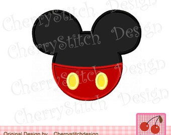Mickey Machine Embroidery Applique Design - 4x4 5x5 6x6 inch