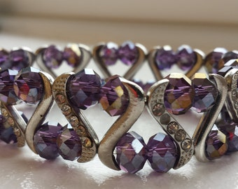 Chunky bracelet, Purple Bracelet, Bracelets, Summer Fashion, Jewellery, Bridesmaid Gift, Bridal Accessories, Weddings, Bride Gift,