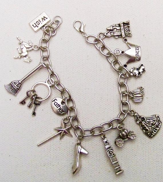 cinderella themed charm bracelet themed tale