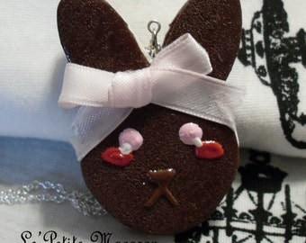 SALE Sweet Lolita Bunny Cookie Necklace