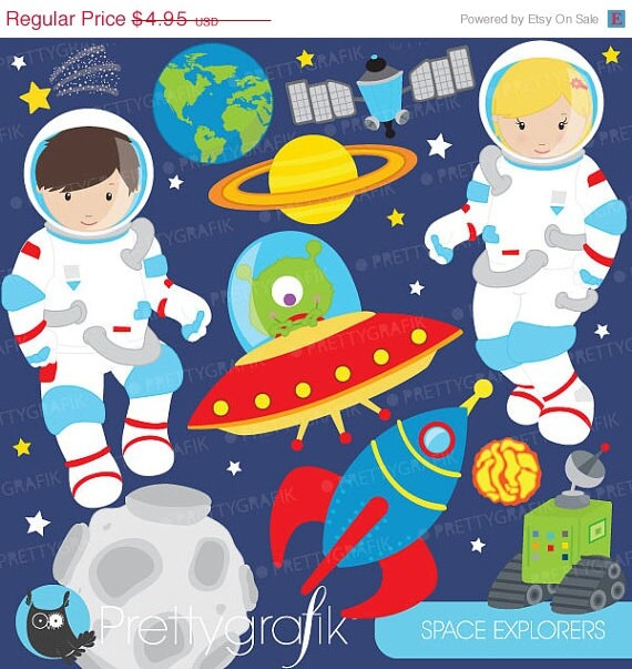 astronauts in space clipart - photo #27