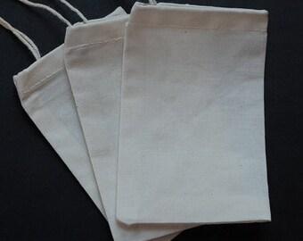 "30pcs 8""x16"" or 9""x12"" LARGE Cotton Muslin Bags // Muslin Shoe Bag, Handbag Dust Cover, Lingerie Bag // Heavy Weight Cotton Muslin"