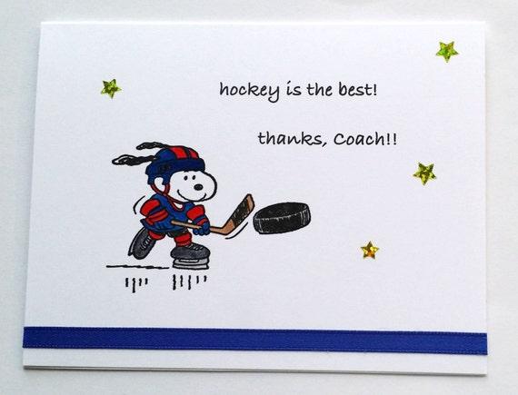 Ähnliche Artikel wie Snoopy Hockey, Geburtstag, danke Grußkarte ...