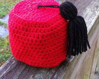 Crochet Baby Doctor Who Fez hat