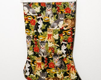 Cats Christmas stocking