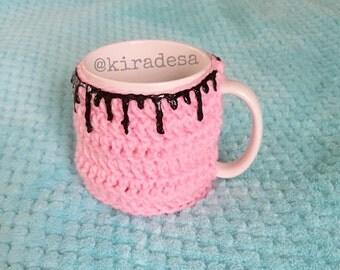 Black slime pink mug hug