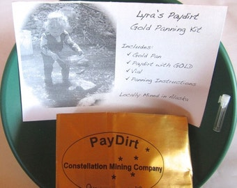 Gold Panning Kit with Alaska Paydirt