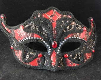 Black and red mask