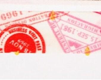 Red Stamp Washi / Masking Tape - 15 mm x 6 M