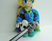 Edgar Roni Figaro crochet doll - Made to Order - Free shipping US featured image