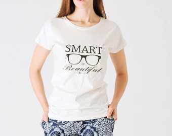 Smart is Beautiful fitted short sleeve T-shirt