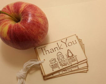 School Days/Thank You tags/teacher tags/ set of 10