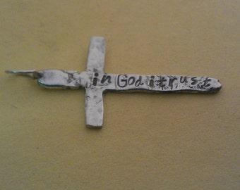 Sterling silver Cross. Handmade silver cross. Antique Cross