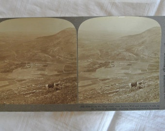 Stereoscopic Card - Underwood - Jerusalem 1904, vintage, Stereoscope, land