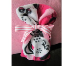 Cats and Dogs Pink Cloth Gift Wrapping or Gift Bags