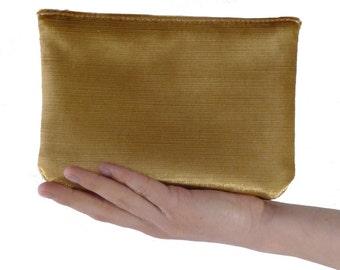 purse velvet gold