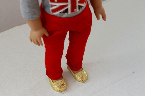 Red Skinny Jeans for American Girl Doll
