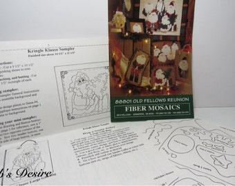 Old Fellows Reunion, Rogue's Gallery, Toy Shop, Kringle Klause Fiber Mosaics 1995 Christmas Pattern