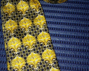 MCM 100% Silk Tie Made in Italy 1970s