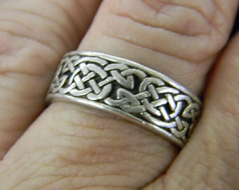 Sterling Silver 925 Size 9 1/2 Ring Native American Modern #5711
